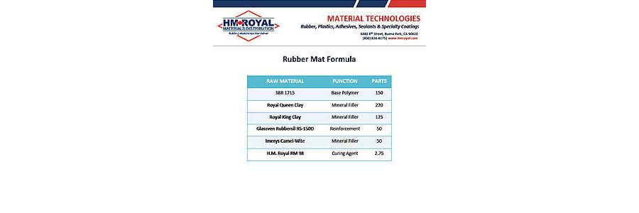 Rubber Mat Formula